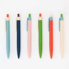 Fill up a jar with these cool color block pens to add some life to your desk.