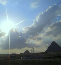 Pyramids Of Giza, Clouds, Outdoor, Outdoors, Outdoor Games, The Great Outdoors, Cloud