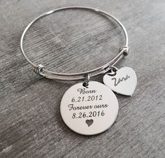 Forever Ours Name Adoption Bracelet Adoption Jewelry by SAjolie