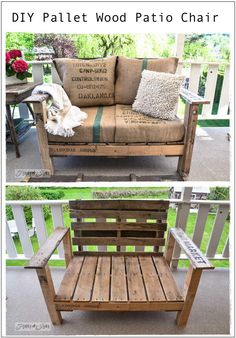 Pallet Wood Patio Chair