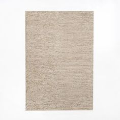 Mini Pebble Jute Wool Rug, 3'x5', Natural/Ivory