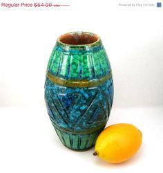 10 Off Sale Italian Pottery Scraffito Vase by AtticDustAntiques, $48.60