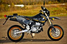 2016 Suzuki DRZ400SM Suzuki Motorcycle, Moto Bike, Drz400 Supermoto, Four Stroke Engine, 5 Speed Transmission, Forest Trail, Dual Sport, Custom Motorcycles