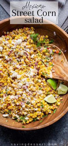 Corn Salad Recipes, Corn Salads, Vegetable Recipes, Healthy Side Dishes, Side Dishes Easy, Healthy Salads, Healthy Recipes, Quesadillas, Enchiladas