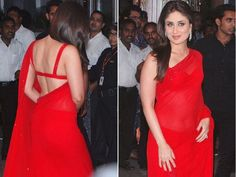 "Kareena Kapoor: Backless cholis never go out of style and add sexiness to your ensemble. Aniket says, ""A toned back is the key to looking graceful in a backless choli."" Kareena pulls off this sexy number with grace and oomph."