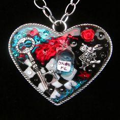 Alice's Drink Me Large Heart Pendant | Bijou but Deadly