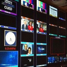 Inside the control room of NBC Nightly News.
