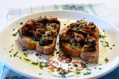 Senza Sale in Zucca: Crostini cozze, vongole e pomodorini secchi