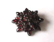 Antique Bohemian Garnet Pin