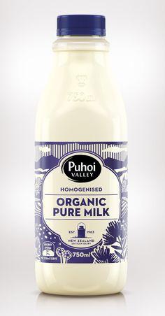 Puhoi Organic Milk — The Dieline | Packaging & Branding Design & Innovation News