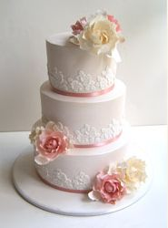 ivory and pink