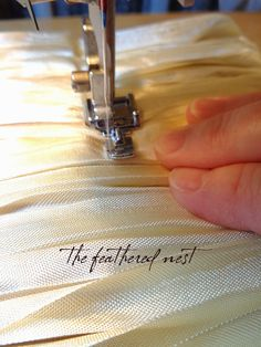~ The Feathered Nest ~: A new FREE Tutorial! How to Create Seam Binding Fringe ~