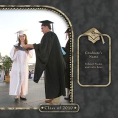 a Wonderful way to preserve that classic photo of your graduate receiving the well deserved diploma !