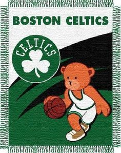 Amazon.com: NBA Boston Celtics 36-Inch-by-46-Inch Woven Jacquard Baby Throw: Sports & Outdoors