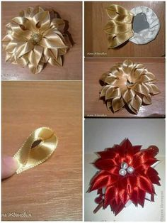How to make elegant organza kanzashi flower with dangles usefuldiy com – Artofit It is a website for handmade creations with free patterns for croshet and knitting in many techniques designs – Artofit This Pin was discovered by Nig - Salvabrani Gorgeo Diy Ribbon Flowers, Ribbon Flower Tutorial, Cloth Flowers, Kanzashi Flowers, Ribbon Art, Ribbon Crafts, Flower Crafts, Fabric Flowers, Paper Flowers