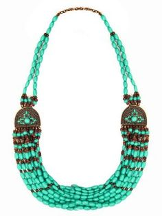 GYPSY WARRIOR - Tribal Turquoise Beaded Necklace
