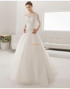 A-vonalú Cipzár Természetes Menyasszonyi ruhák 2015