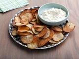 Homemade chips. Way better for you than store bought. I use both russet potatoes and sweet potatoes. Plus, this is so, SO easy to make!