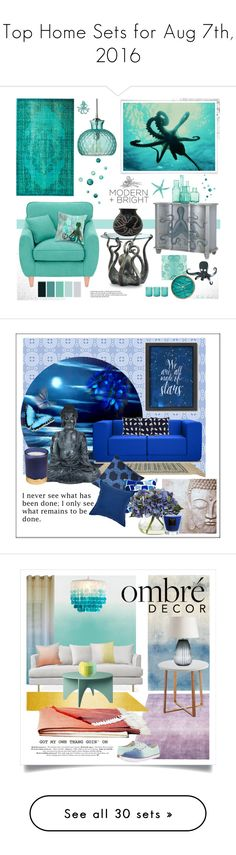 """""""Top Home Sets for Aug 7th, 2016"""" by polyvore ❤ liked on Polyvore featuring interior, interiors, interior design, home, home decor, interior decorating, Fearne Cotton, Jamie Young, Haseform and Herend"""