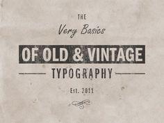 Vintage Typography by irenepo