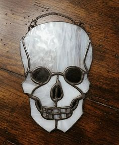 Skull Stainted Glass Sun Catcher Ornament