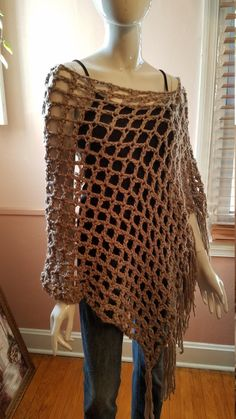 Crochet Top, Taupe, Honey, Wraps, Moon, Trending Outfits, Awesome, Unique Jewelry, Handmade Gifts