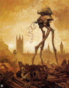 Martian Tripod in London - Tom Kidd Art Works