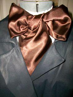 Cravat In Black Satin or Ascot Mens Victorian Tie by lavonsdesigns