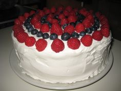 4th of July Red Velvet Cake - it turned out as delicious as this looks!