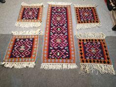 Van & Hakkari 5 pieces of small rugs #V19 by Avsharkilim on Etsy