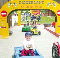 Kids having fun at Digger Land