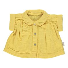 Poudre Organic Double Gaze Organic Cotton Blouse with Peter Pan Collar-listing