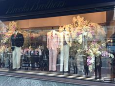 The Great Gatsby window display at Brooks Brothers 1920s Theme, The Great Gatsby, Window Displays, Trade Show, Brooks Brothers, Art Deco, Retail, Windows, Costumes