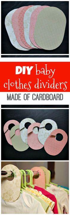 DIY Cardboard Baby Closet Dividers - 20 Easy DIY Baby Closet Dividers To Organize Baby Clothes