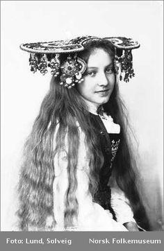 A Norwegian Bride, silver wedding crown.