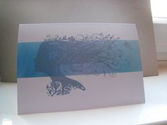 ombre card -distress inks -indigoblu stamp