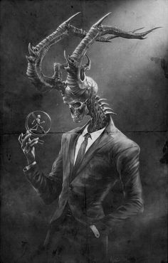 Illustration/Painting/Drawing inspiration this is rather creepy but kind of cool too gothic art at large. Art And Illustration, Illustration Inspiration, Art Illustrations, Dark Fantasy Art, Fantasy Kunst, Fantasy Demon, Monster Art, Shadow Monster, Monster Concept Art
