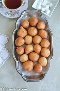 Puff-Puff Deep Fried Dough, popular West African street food, with step-by-step pictorial.Puff-Puff Deep Fried Dough, popular West African street food, with step-by-step pictorial. Ghanaian Food, Nigerian Food, Cameroon Food, Beignets, West African Food, International Recipes, Love Food, Food To Make, Cooking Recipes