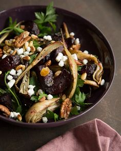 Warm & Festive Beet Fennel Salad Recipe - Day 13: Sweet Paul Holiday Countdown presented by Mrs. Meyer's Clean Day #SweetPaul #HomeGrownInspiration @mrsmeyersclean
