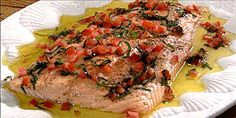 Salmon with Warm Tomato Basil Oil