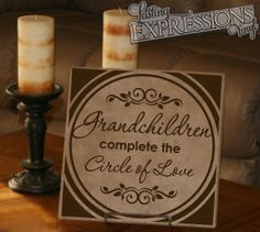 1411T Grandparents Complete the Circle of Love - 12 x 12 Tile