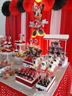 Candy bar - Mesa de dulces Minnie Mouse