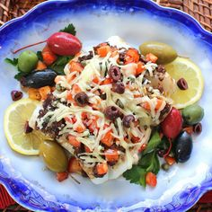 Tapenade Baked Cod | A Palatable Pastime