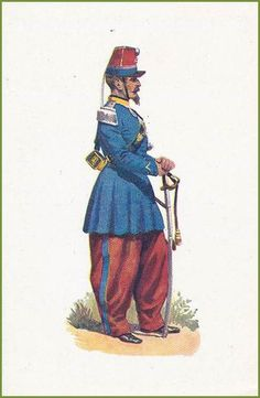 French;Chasseur D'Afrique, Officer 1863
