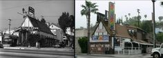 A now-and-then look at VIlla Nova and today's Rainbow Bar & Grill.