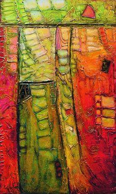Green and orange art