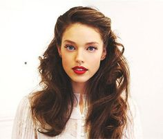 Gorgeous Holiday Hair 'Dos: Retro Waves. Vintage volume and pinned curls lend an old Hollywood glamour vibe. Pin back the front sections of your hair, add a crimson lip and extra coat of mascara on top lashes. Party perfect. #SelfMagazine