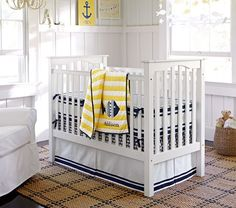 Oceanside Boat Nursery Bedding | Pottery Barn Kids