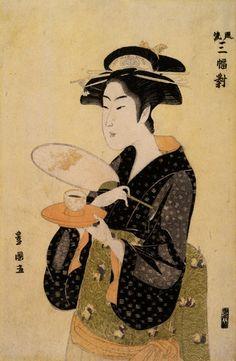 Utagawa Toyokuni, The Tea House Beauty, 18th ct
