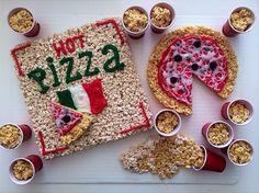 Rice Krispie Treat Pizza